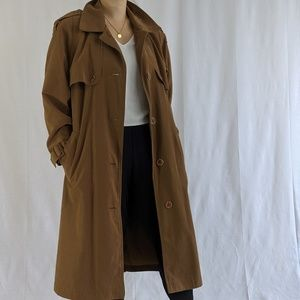 Jackets & Blazers - Flowy Drapey Trench Coat in Camel Color